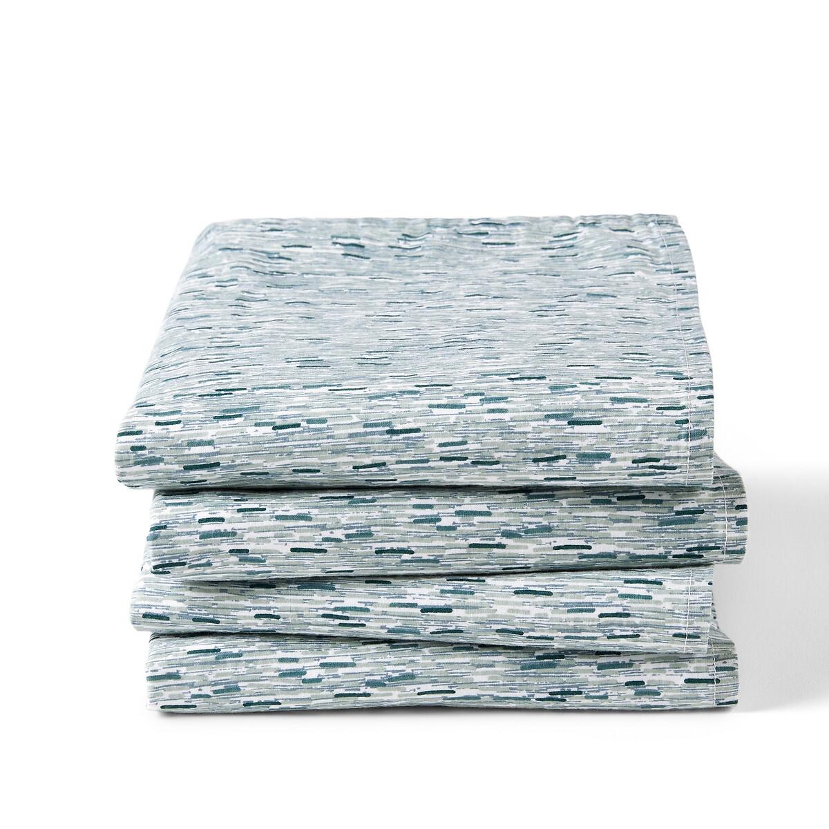 Комплект из 4 полотенец столовых La Redoute Из стираного хлопка Ydra 45 x 45 см зеленый комплект из столовых салфеток la redoute из стираного хлопка twinkle 45 x 45 см каштановый