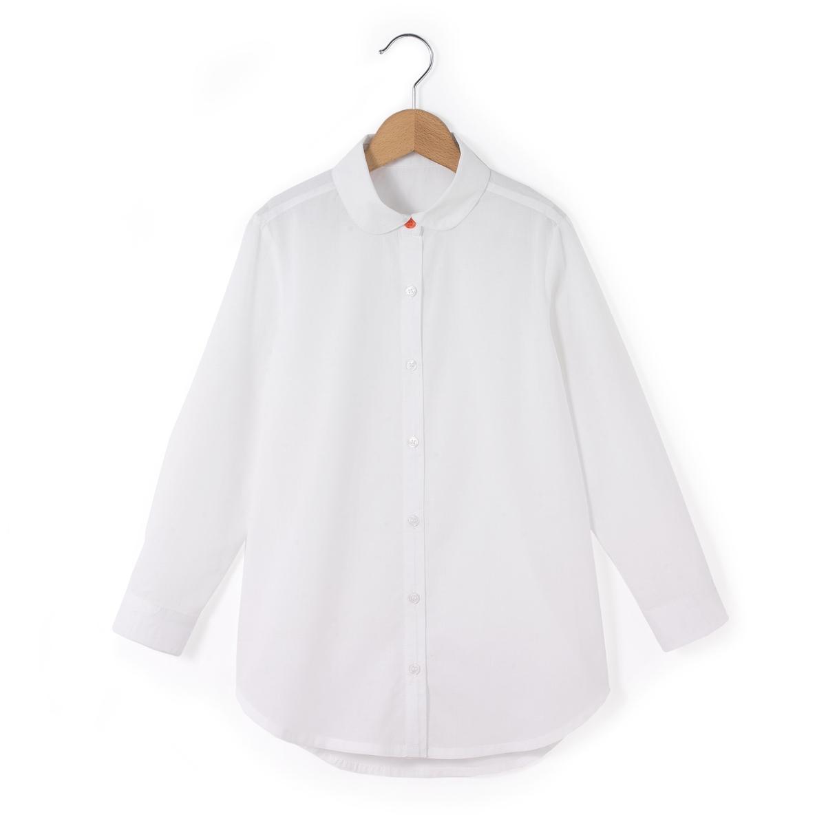 Блузка с рукавами с отворотами 3-12 лет