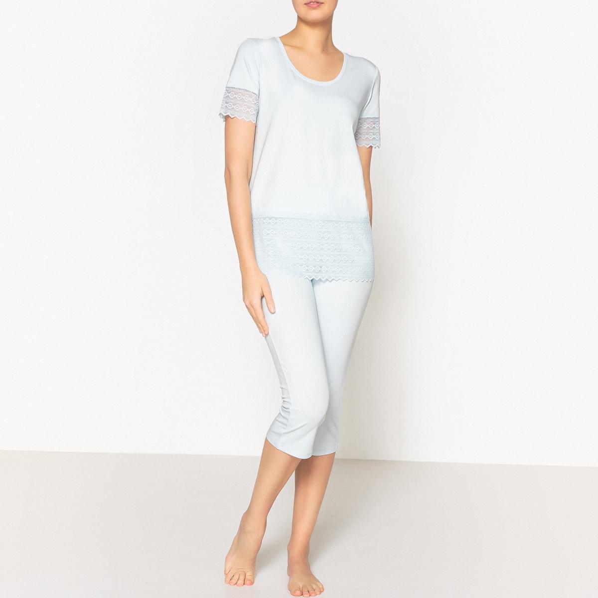 Пижама из кружева пижама из майки и шортов из модала и кружева romy