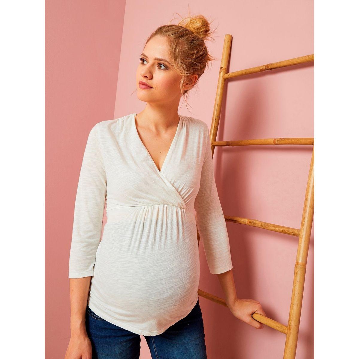 T-shirt cache-coeur de grossesse