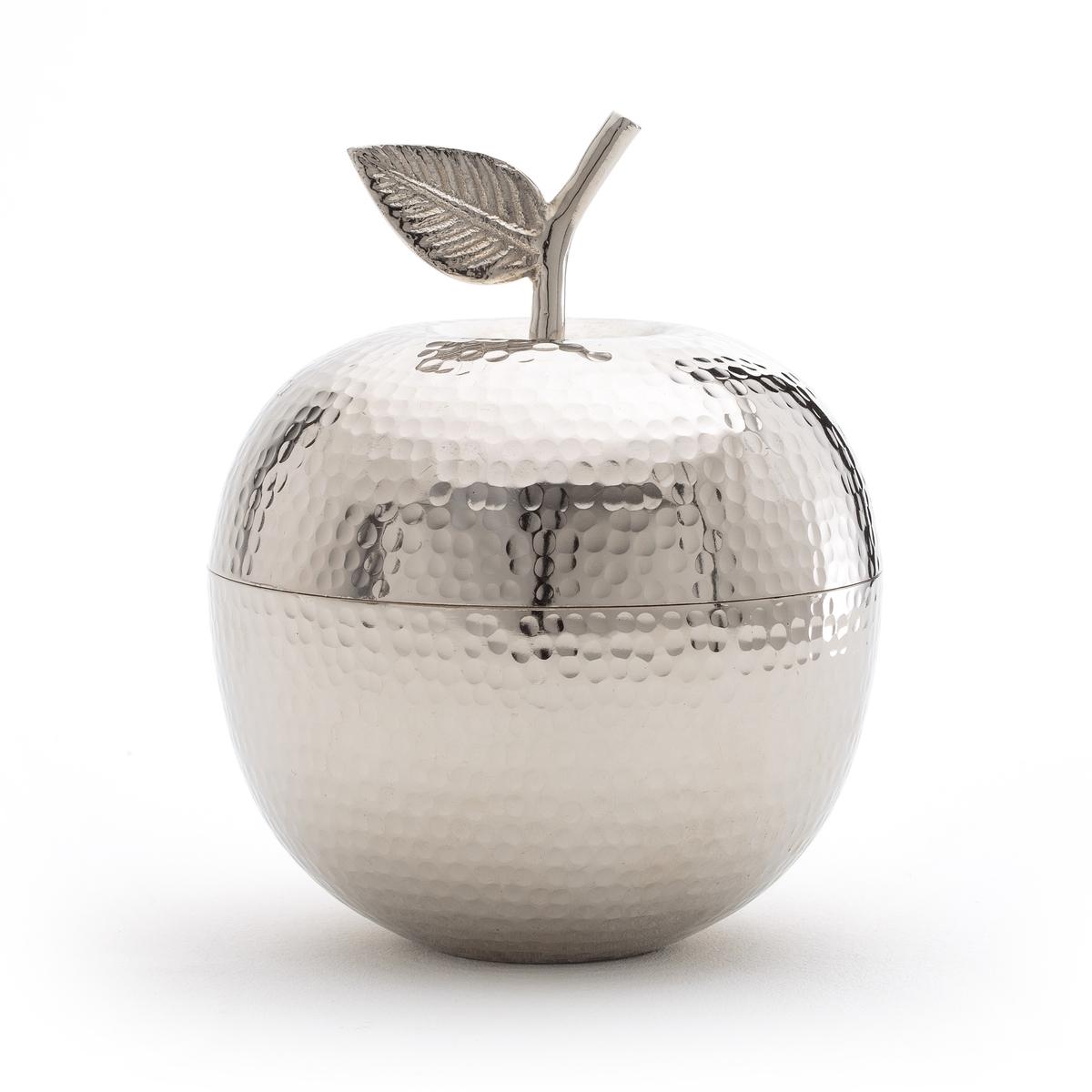 Коробочка в форме яблока MACALa Redoute<br>Декоративная коробочка с оригинальным и практичным дизайном яблоко. Можно ее поставить на обычный, рабочий или туалетный стол для хранения украшений.                   Характеристики коробочки Maca:  Никелированный алюминий .  С крышкой .      Размеры коробочки Maca :  Диаметр 15,5 x Выс20 см<br><br>Цвет: темно-серый<br>Размер: единый размер