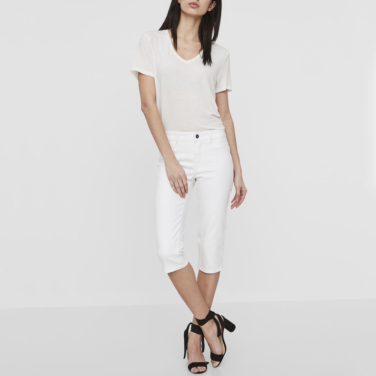 Брюки короткие узкие HOT SEVEN со стандартной талией из джинсовой ткани