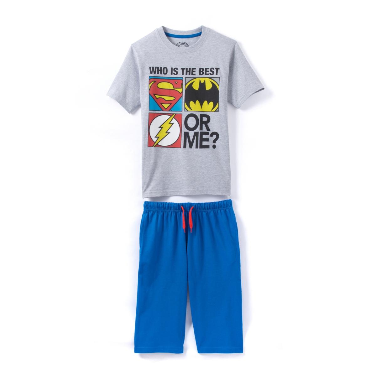 Пижама с короткими рукавами с шортами  4 - 12 лет  DC Comics
