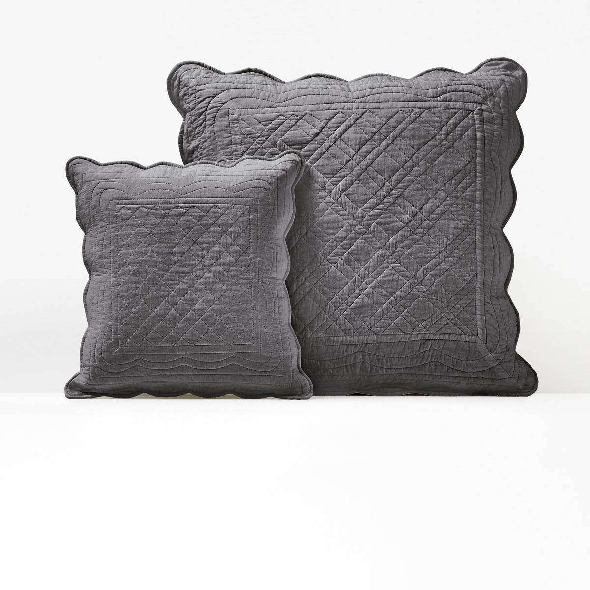 Чехол La Redoute На подушку или подушку-валик из хлопка SCENARIO 40 x 40 см серый чехол la redoute на подушку или подушку валик из хлопка scenario 40 x 40 см серый