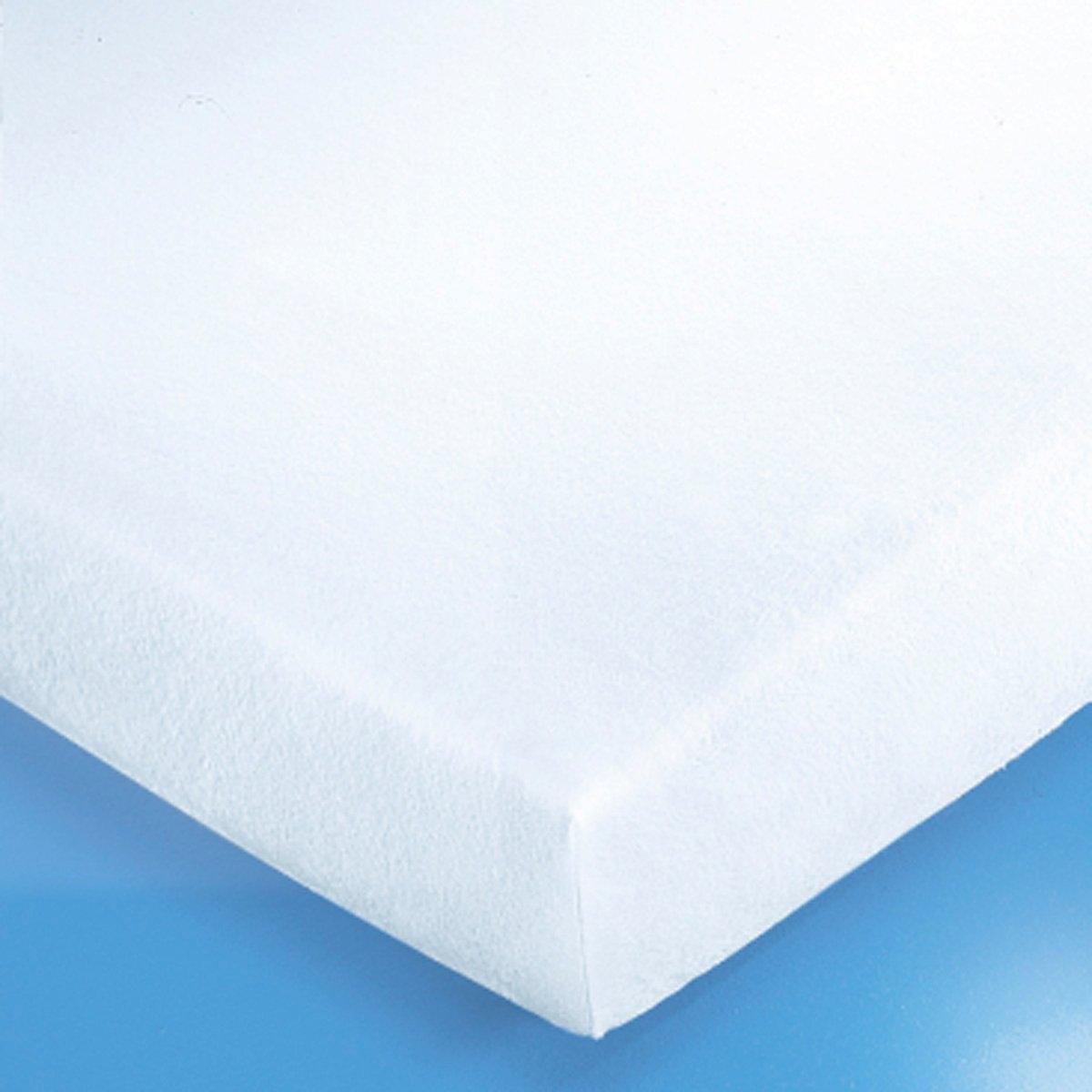 Чехол защитный для матраса, 220 г/м?Качество VALEUR S?RE. Подарите себе надежную защиту и комфорт благодаря защитному чехлу для матраса! Он выводит влагу, выделяемую телом во время сна, и защищает матрас от разводов, клещей и бактерий. Мягкий и прочный мольтон, 100% хлопка, 220 г/м?. Стирка при 95°, обработка SANFOR против усадки. 4 эластичных угла (высота 27 см). Длина 200 см.<br><br>Цвет: белый<br>Размер: 180 x 200 см