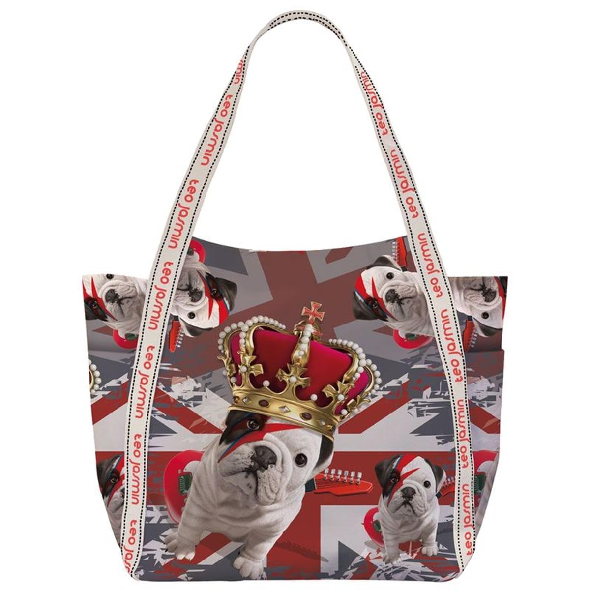 Maxi sac shopping Téo Jasmin - Stardust