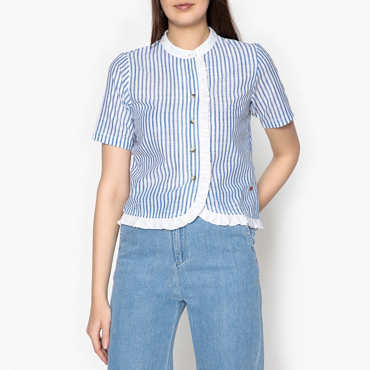 Блузка-рубашка в полоску CUBA женская рубашка european and american big c002617 2015