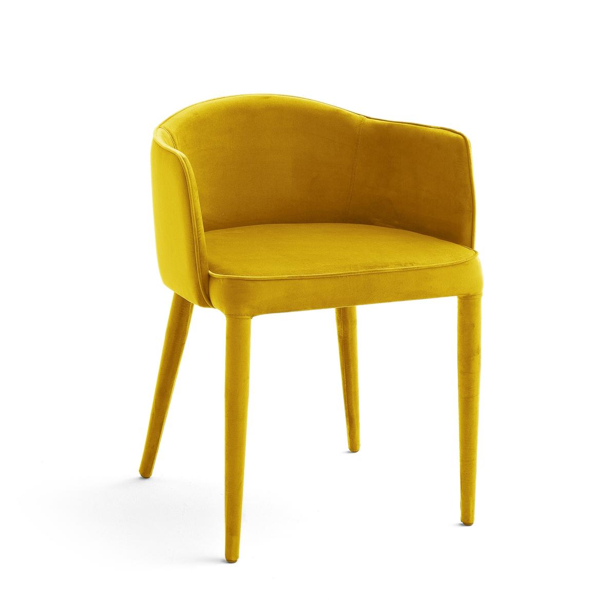 Кресло LaRedoute Велюровое Bristol единый размер желтый