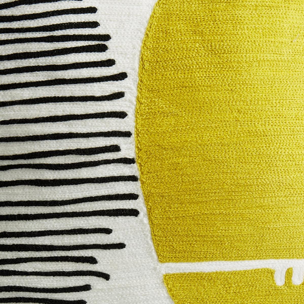 Чехол на подушку с вышивкой Mihnéa от La Redoute
