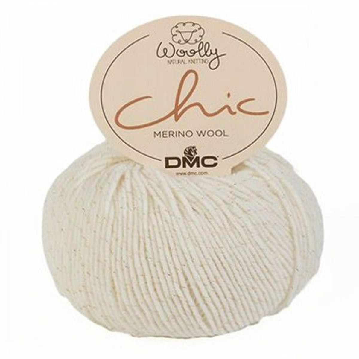 Laine à Tricoter Woolly Chic De Dmc, Ciel Polaire Etoilé 01