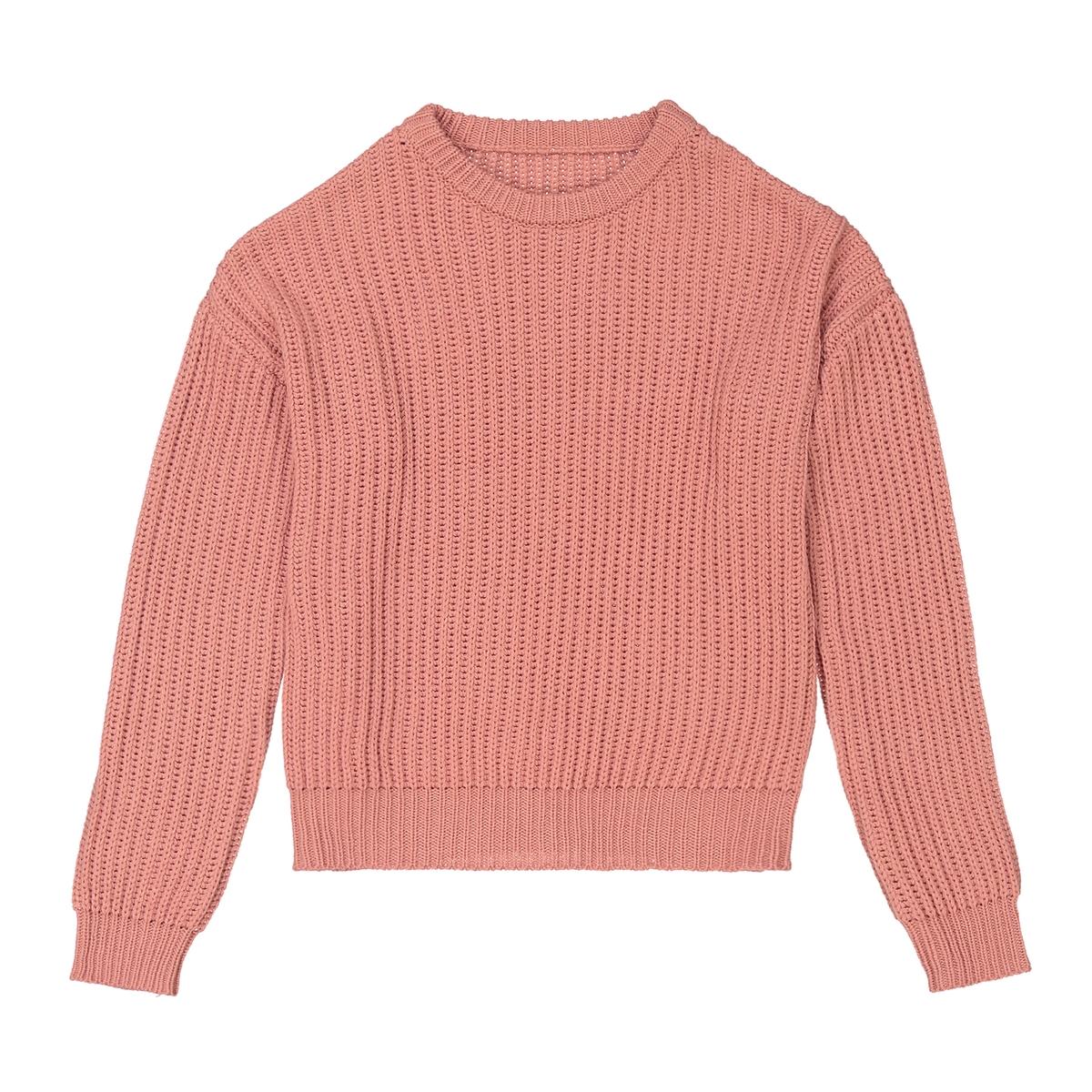 Пуловер однотонный в рубчик 10-16 лет