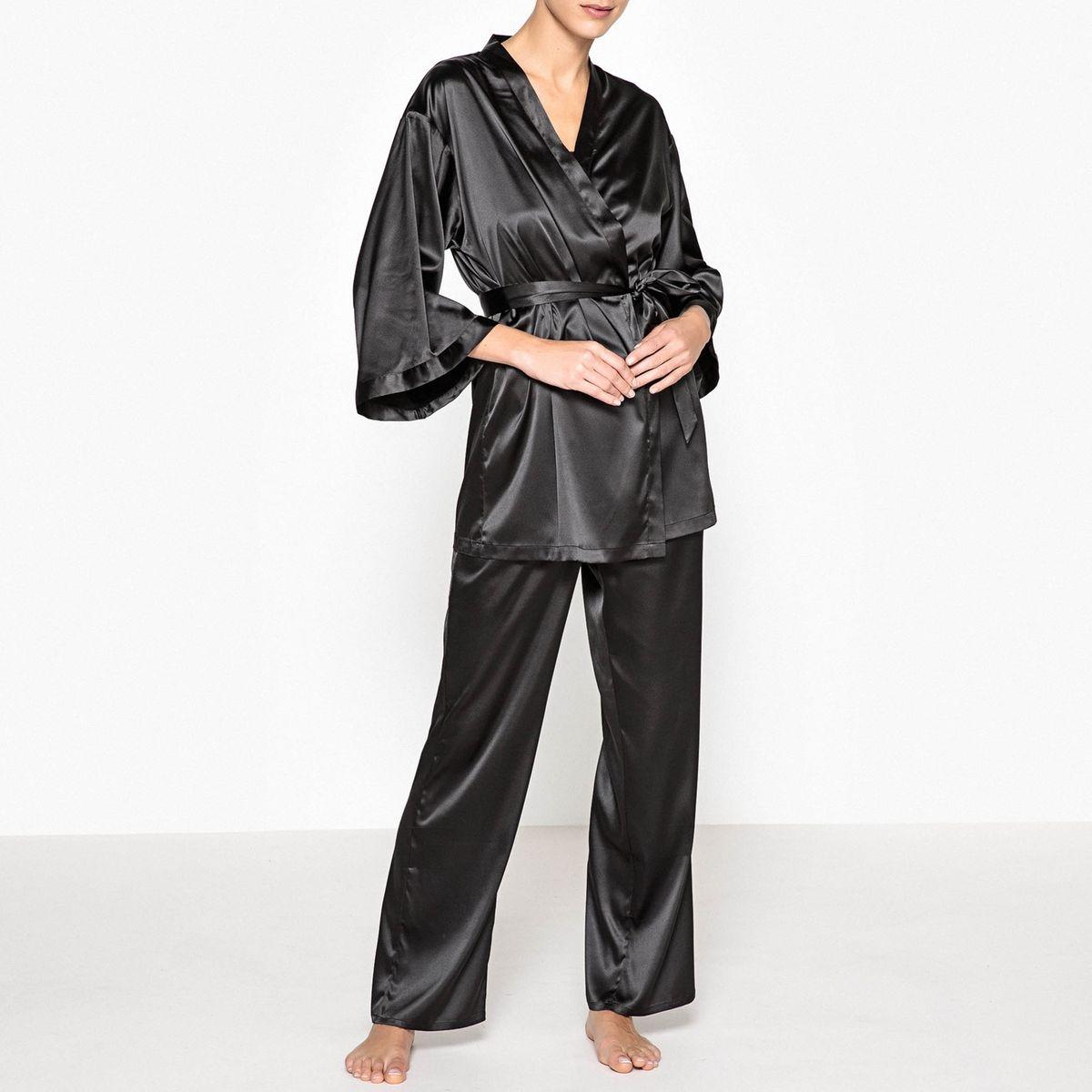 Pyjama satin 3 pièces