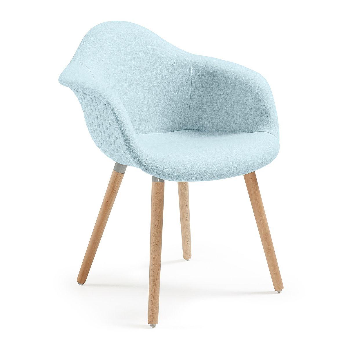 Chaise avec accoudoirs Kevya, bleu clair