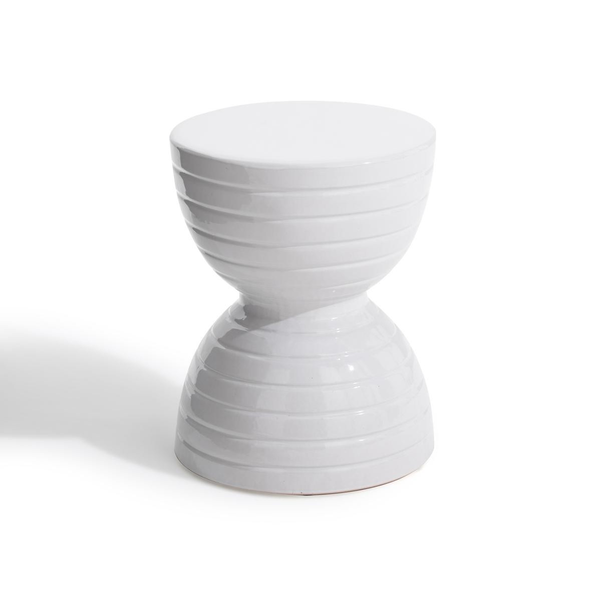 Столик La Redoute Керамический журнальный Spool единый размер белый туалетный la redoute столик clairoy единый размер каштановый