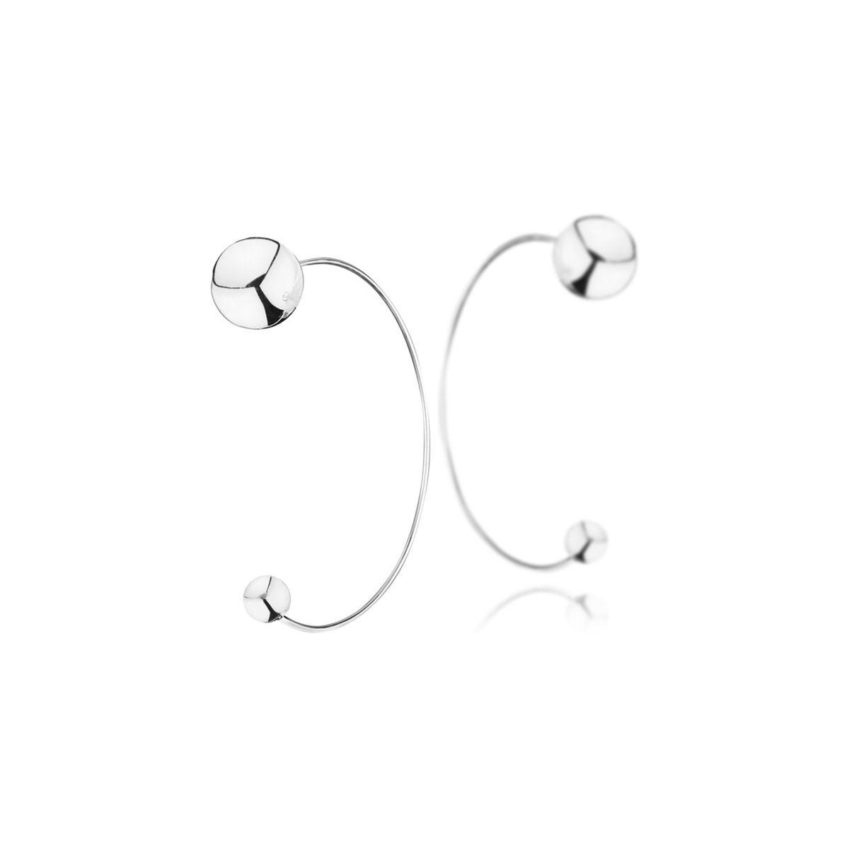 Boucles d'oreilles percées en argent 925 passivé, 5g, Ø6 et 12mm