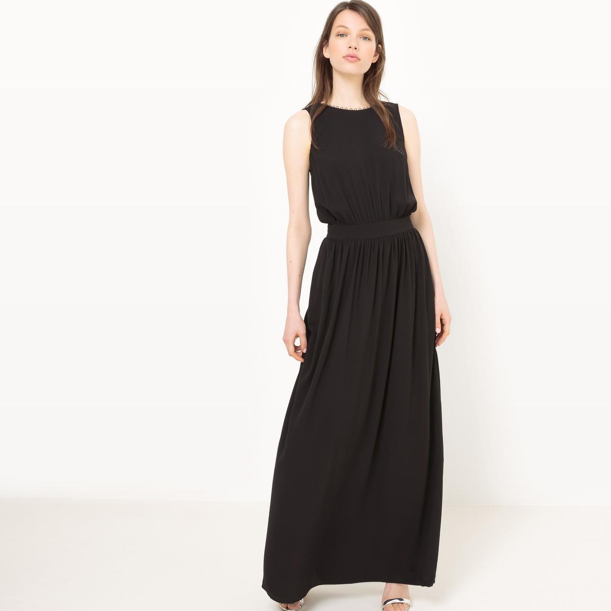Платье длинное с декольте сзади