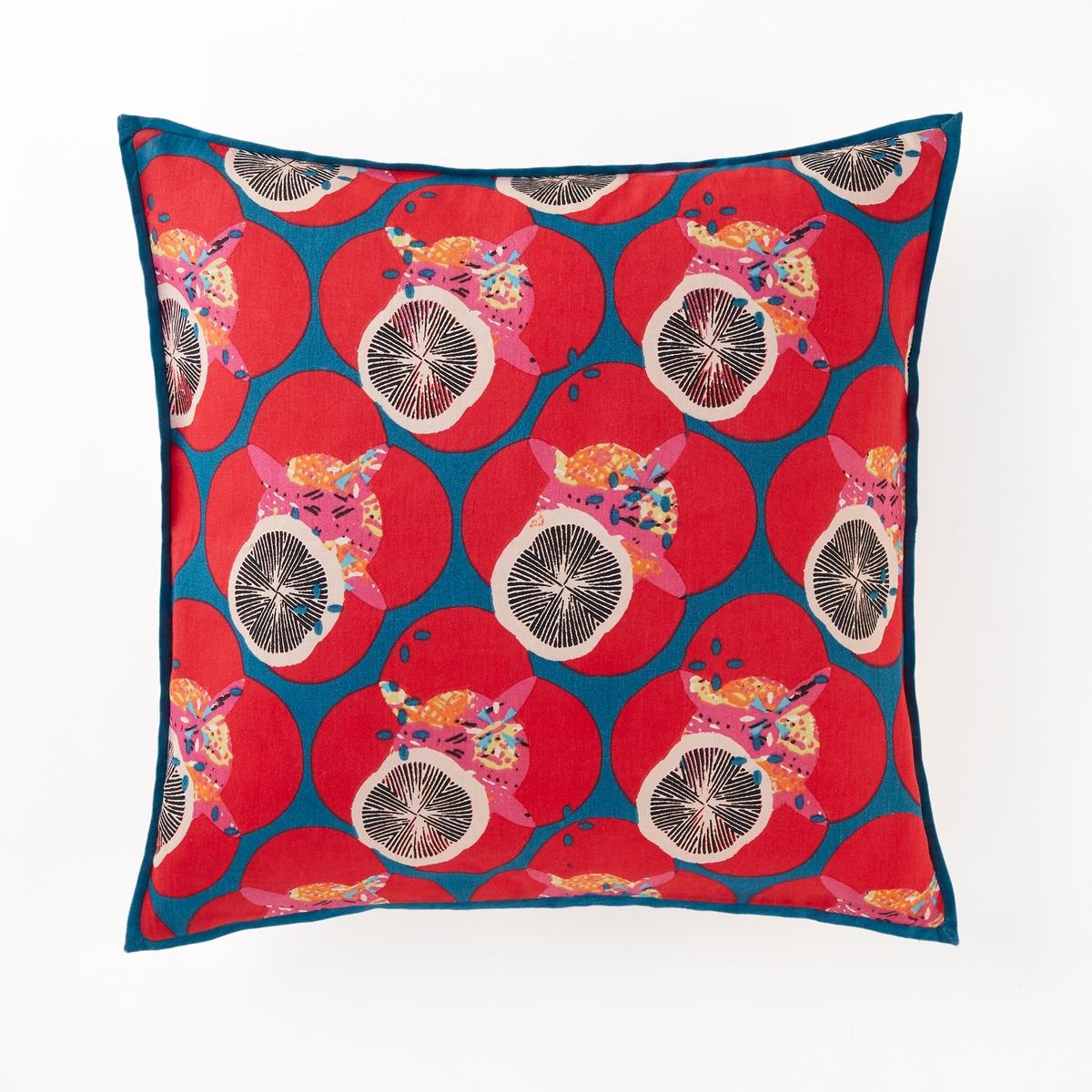 Наволочка на подушку-валик из хлопкового сатина, Nenuphars