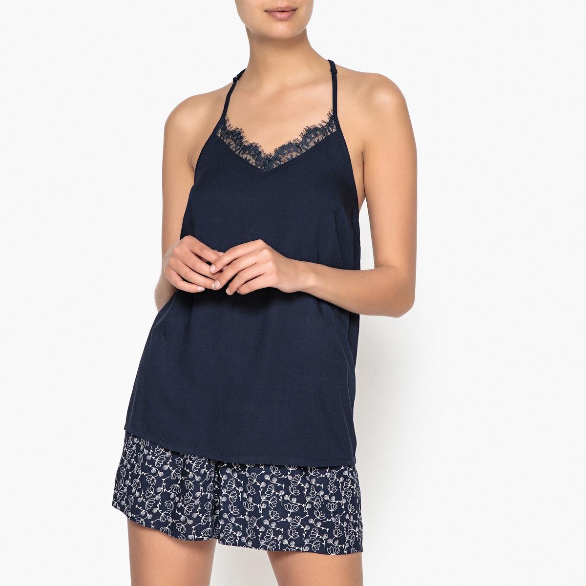 Пижама с шортами с принтом из кружева цены онлайн