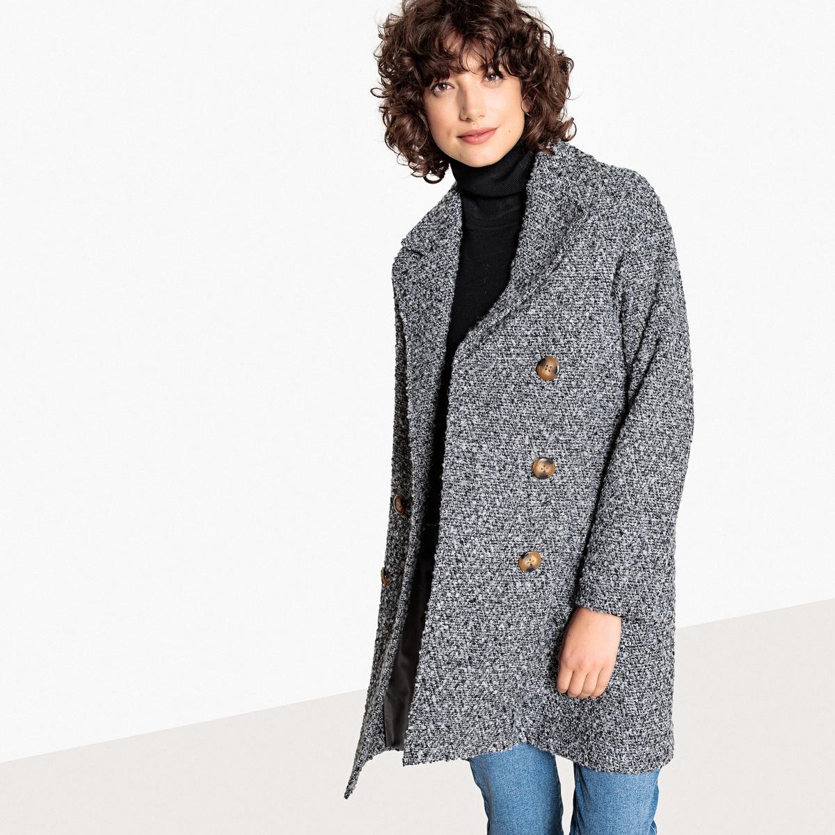 Abrigo jaspeado de mezcla de lana
