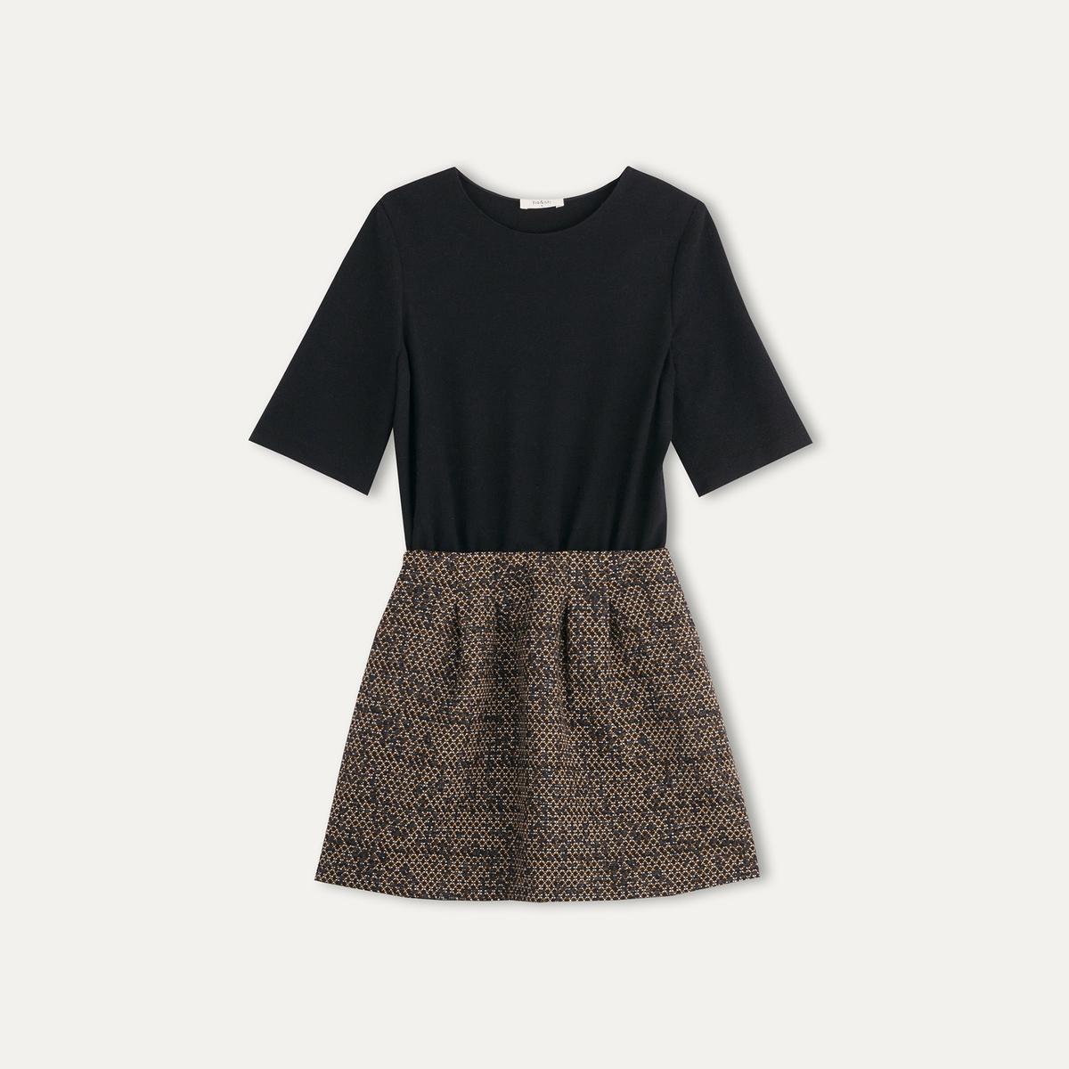 Платье короткое комбинированное DEMY от La Redoute