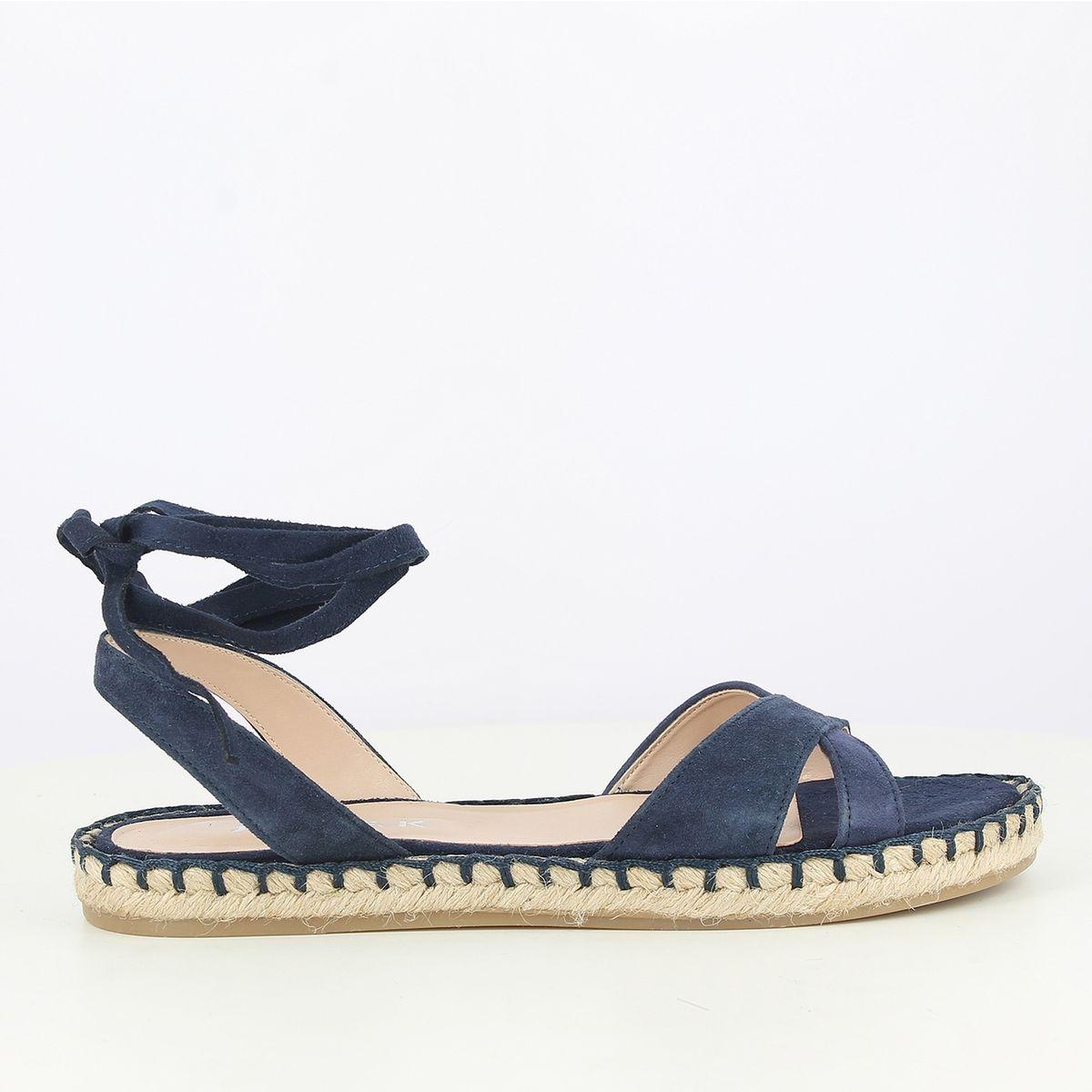 Sandales cuir plates