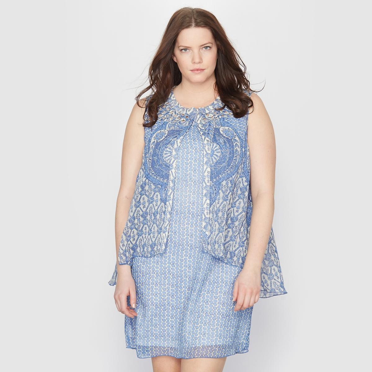 Платье из набивной ткани с рисунком пейсли от TAILLISSIME