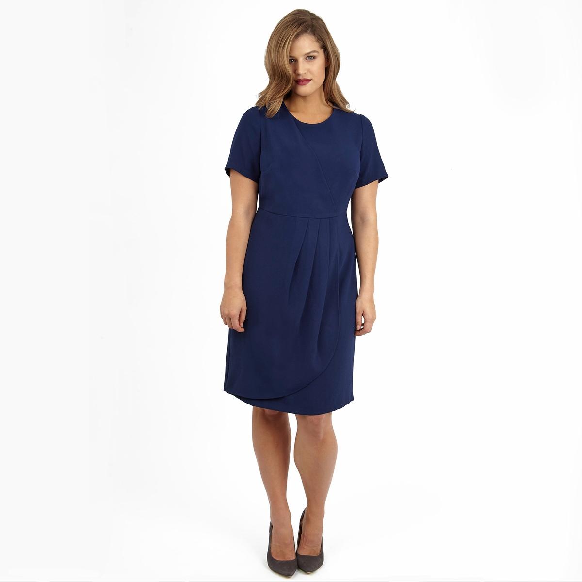ПлатьеПлатье с короткими рукавами LOVEDROBE. 100% полиэстер.<br><br>Цвет: синий