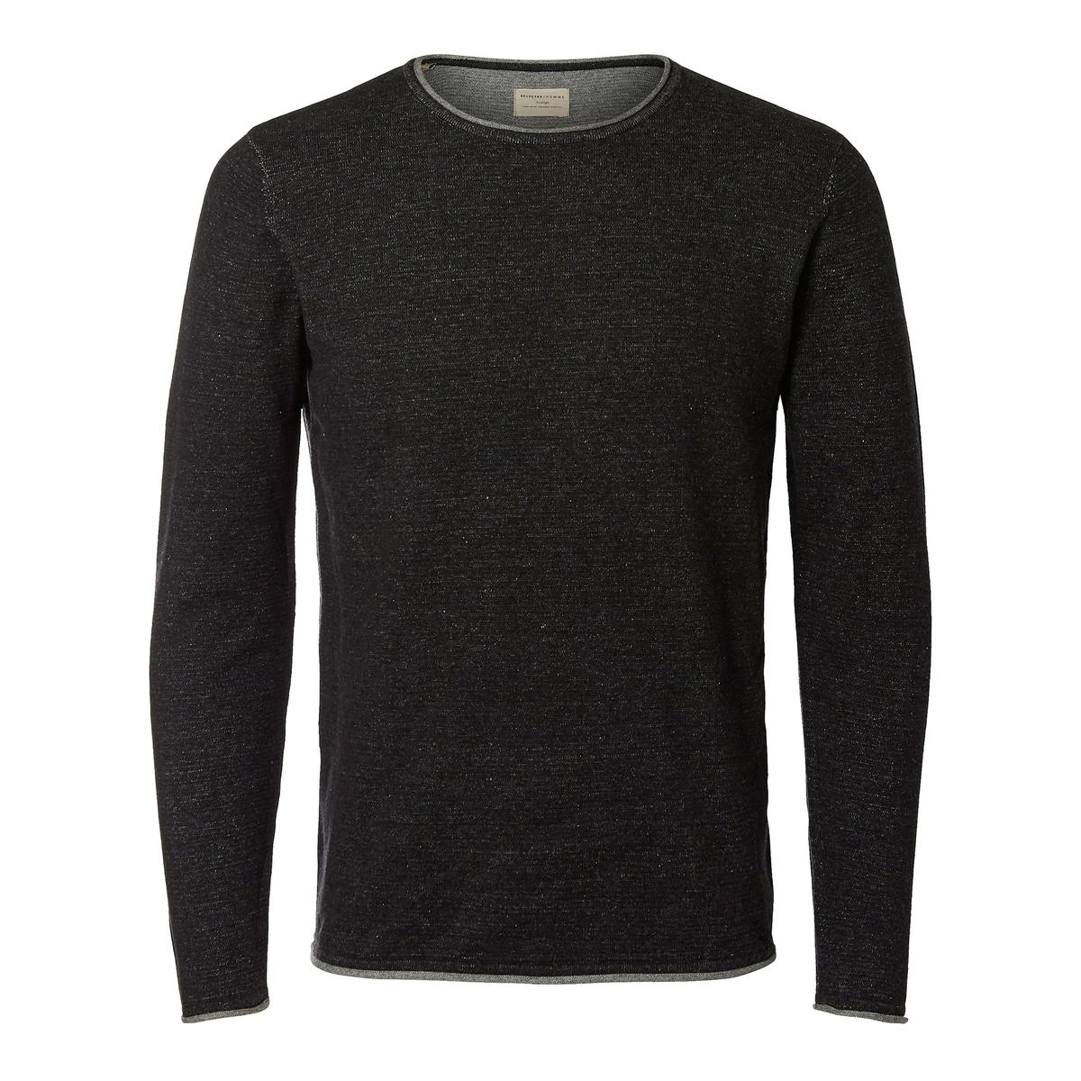 Пуловер  KLOP из хлопка меланж