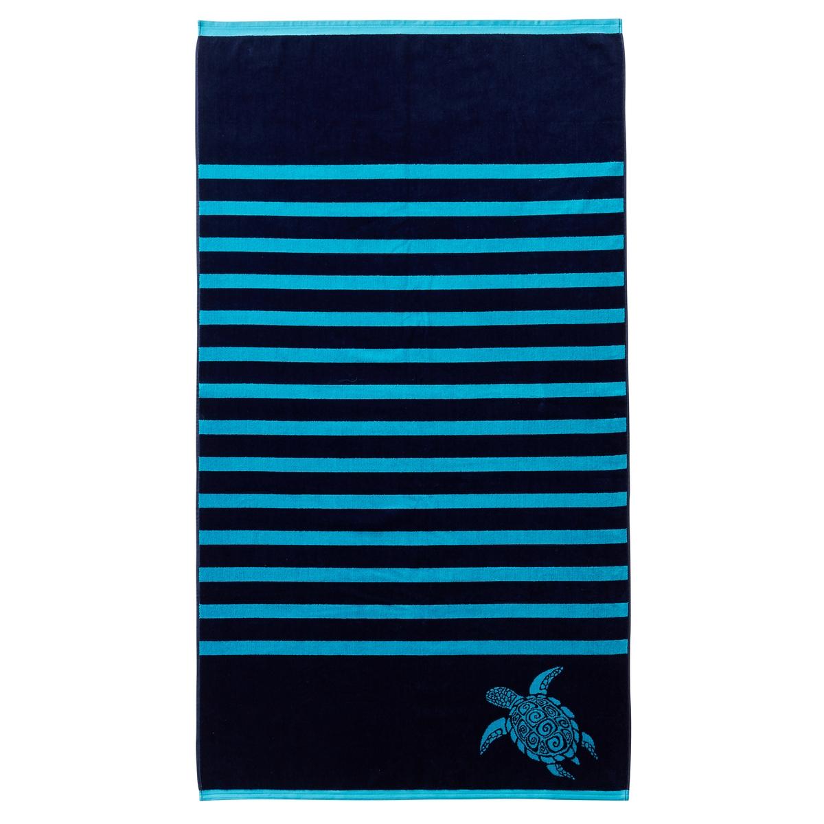 Полотенце пляжное BahiaПолотенце пляжное из велюра с жаккардовым рисунком Bahia. Характеристики пляжного полотенца Bahia :Махровая ткань из велюра с жаккардовым рисунком, 100% хлопок.440 г/м?.Машинная стирка при 60 °С.Размеры пляжного полотенца Bahia :90 x 170 см .<br><br>Цвет: синий