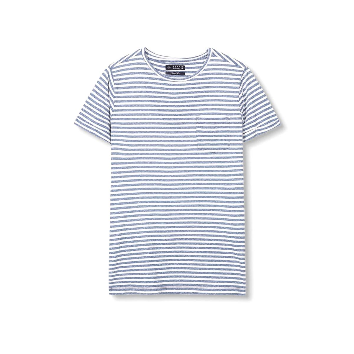 Футболка в полоску с круглым вырезом футболка мужская esprit 025ee2k027c 15 259