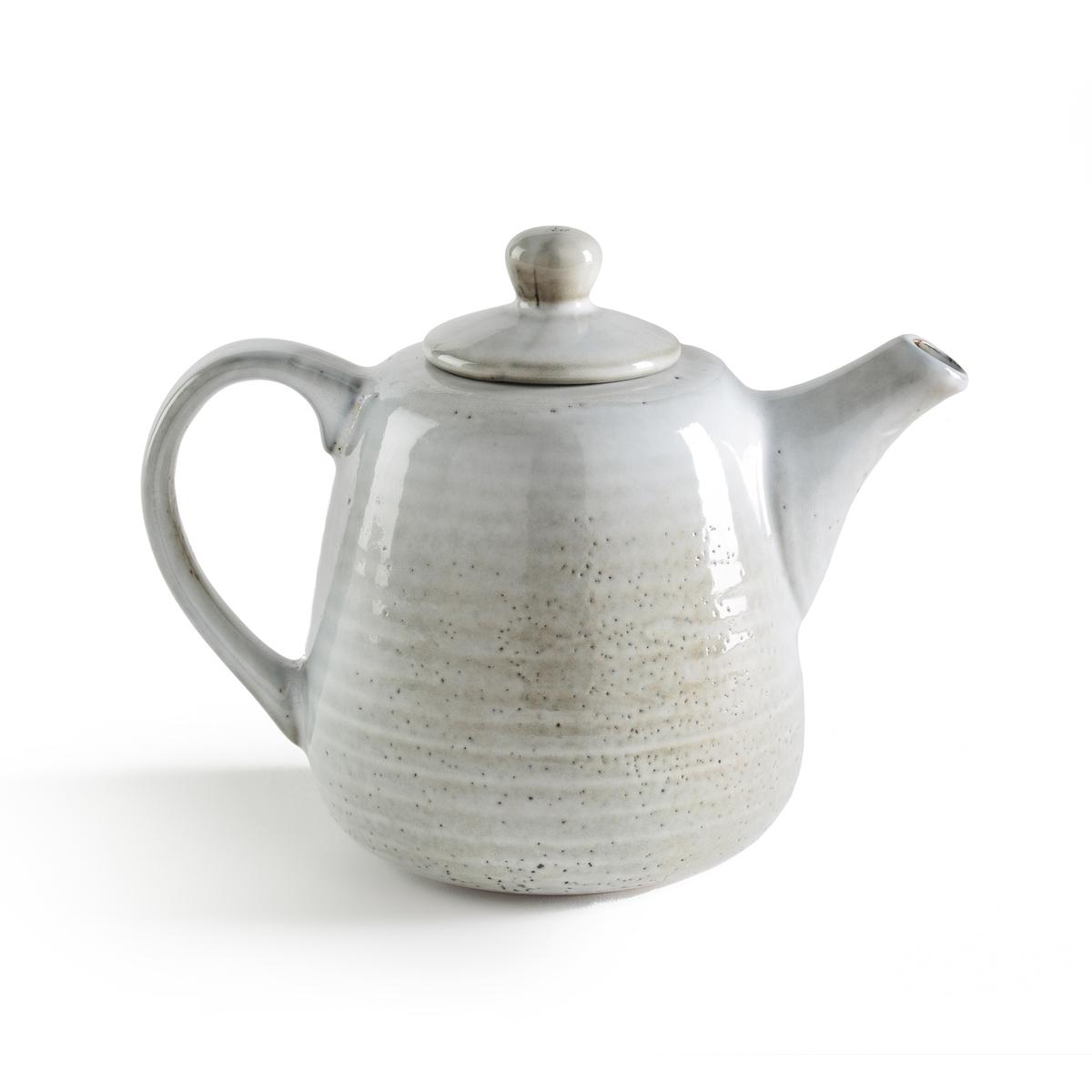 Чайник из керамики, AmedrasLa Redoute<br>Чайник Amedras. Чайник с рисунком в северном стиле синего цвета ручной работы, возможны небольшие различия в оттенках. Характеристики:- Из керамики, покрытой глазурью. - Мелкие и десертные тарелки, миски и чашки того же комплекта представлены на нашем сайте.    Размеры: - Ш18,5 x В11,5 x Г11 см.<br><br>Цвет: серо-синий