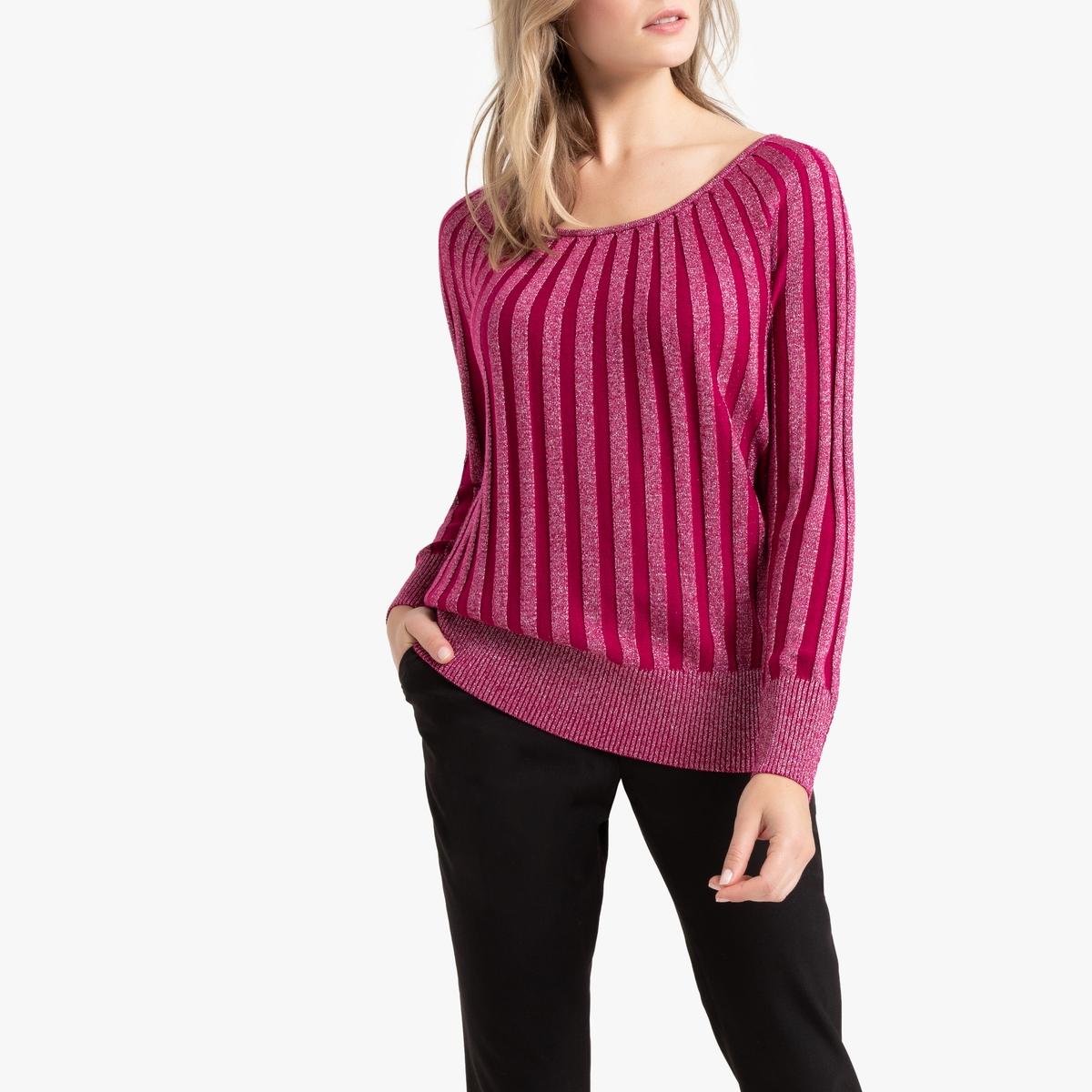 Пуловер La Redoute С круглым вырезом из тонкого трикотажа 50/52 (FR) - 56/58 (RUS) розовый пуловер la redoute с круглым вырезом из шерсти мериноса pascal 3xl черный