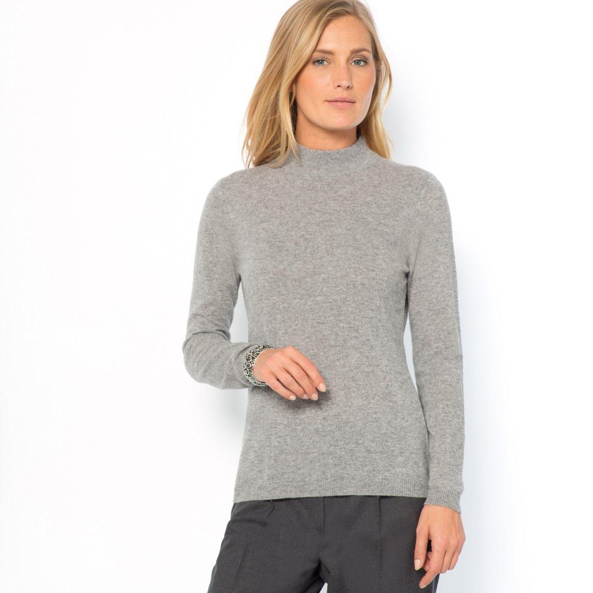 Пуловер, 100% кашемираПодарите себе наслаждение невероятной легкостью, мягкостью и теплом кашемира! Нежнейший трикотаж, 100% кашемира. Высокий воротник. Низ длинных рукавов и пуловера связан в рубчик. Длина 60 см.<br><br>Цвет: бежевый экрю,розовая пудра,серый меланж,черный<br>Размер: 42/44 (FR) - 48/50 (RUS).46/48 (FR) - 52/54 (RUS).38/40 (FR) - 44/46 (RUS).42/44 (FR) - 48/50 (RUS).38/40 (FR) - 44/46 (RUS).42/44 (FR) - 48/50 (RUS)
