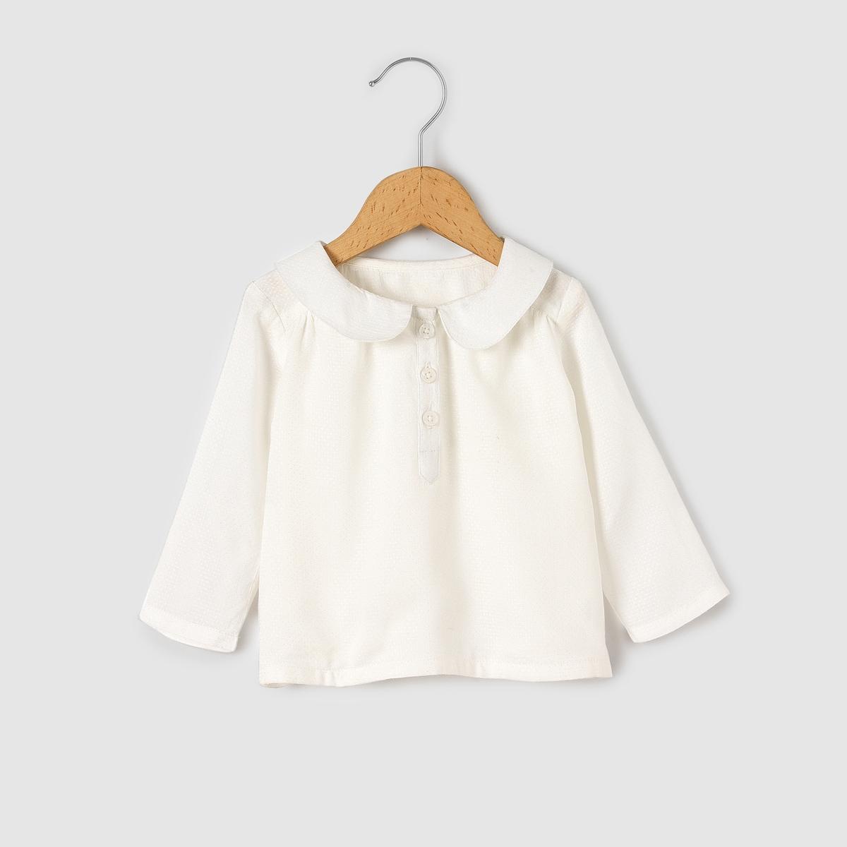 Блузка с отложным воротником, на 1 мес.-3 лет