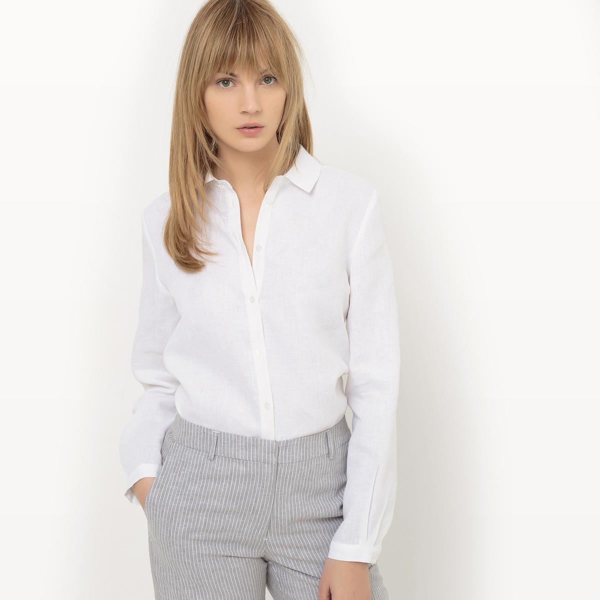 Camisa recta con lino