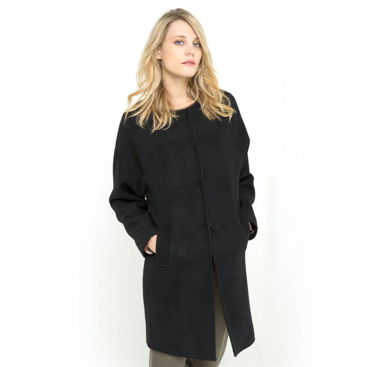 SOFT GREY Пальто из вареной шерсти