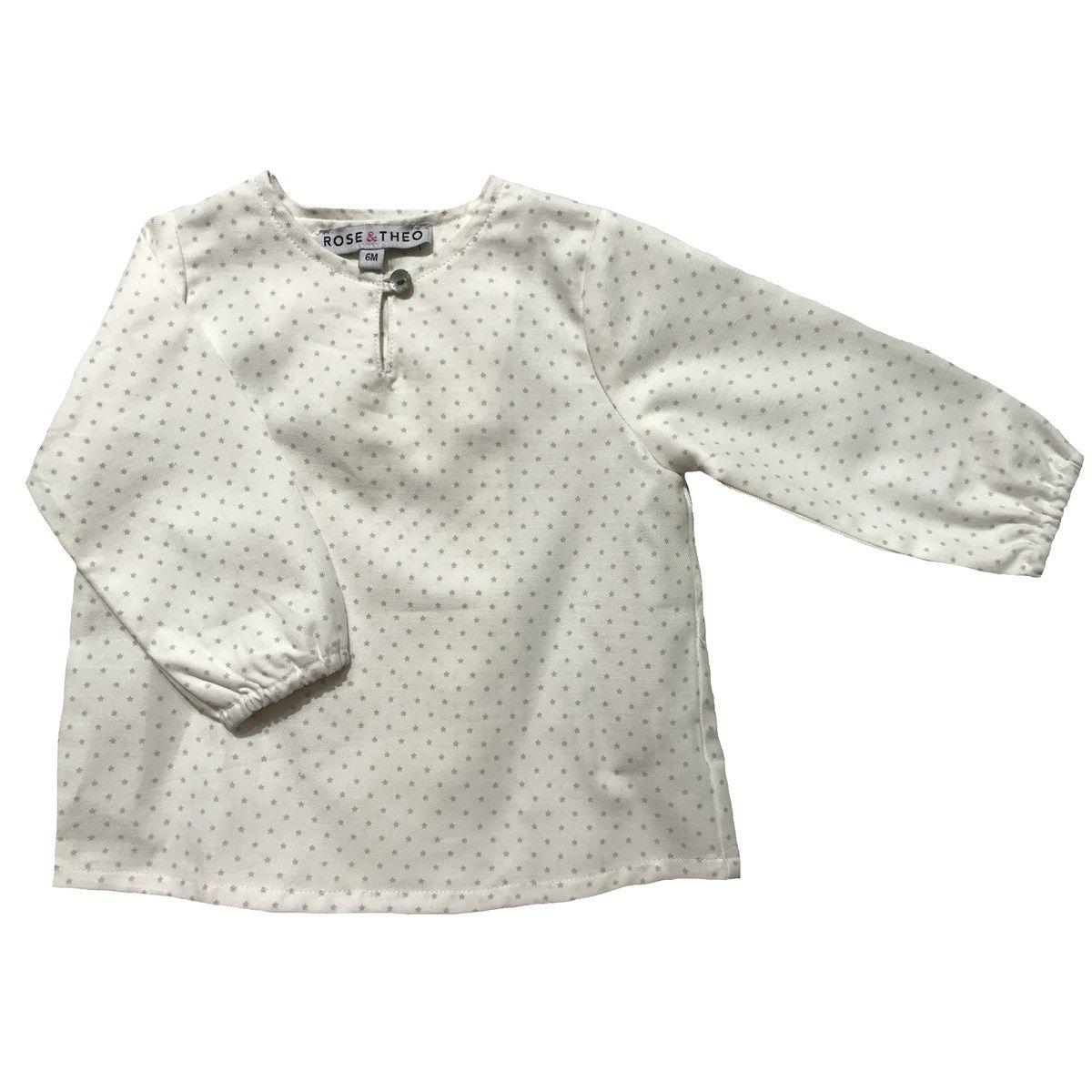 Chemise en coton motif étoiles