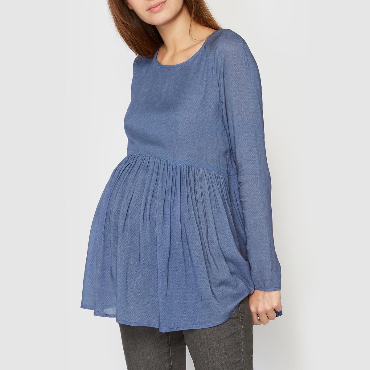 Блузка для периода беременности, длинные рукава