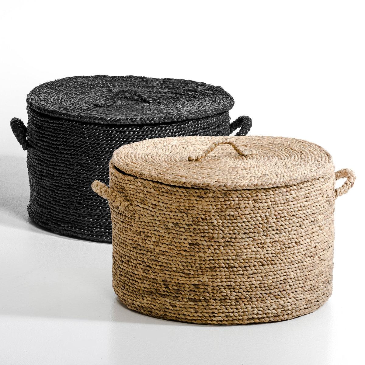 Корзина круглая из плетеных волокон эйхорнии. В36,5 см, Liane