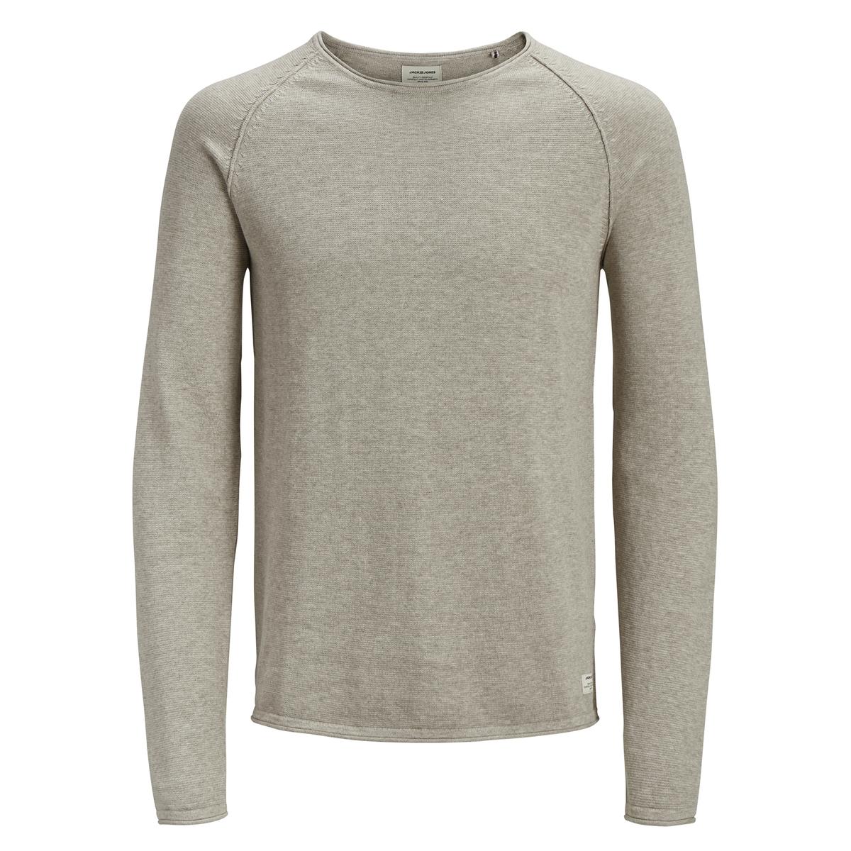 Пуловер La Redoute С круглым вырезом из тонкого трикотажа XXL бежевый