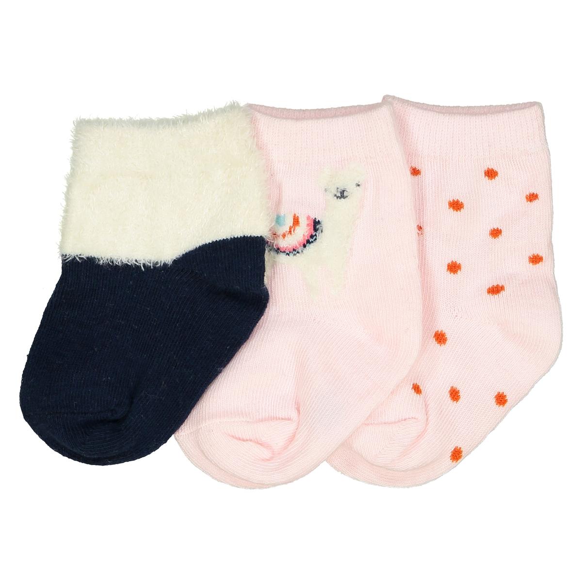 Комплект из 3 пар носков, размеры15/18-23/26 комплект из 4 пар носков размеры 15 18 23 26