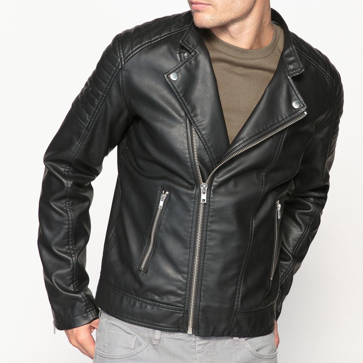Куртка в байкерском стиле из искусственной кожи electrolux eefm 2 150 6