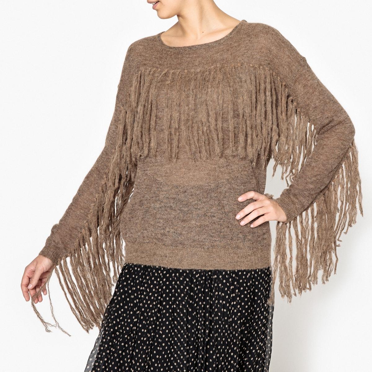 Пуловер из трикотажа с бахромой KIONA