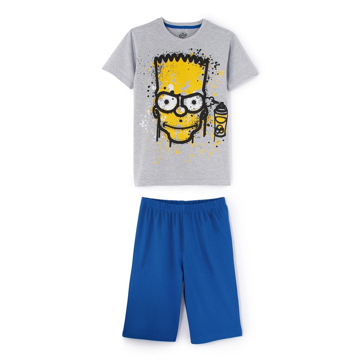 Пижама с короткими рукавами и рисунком, 8 - 14 лет