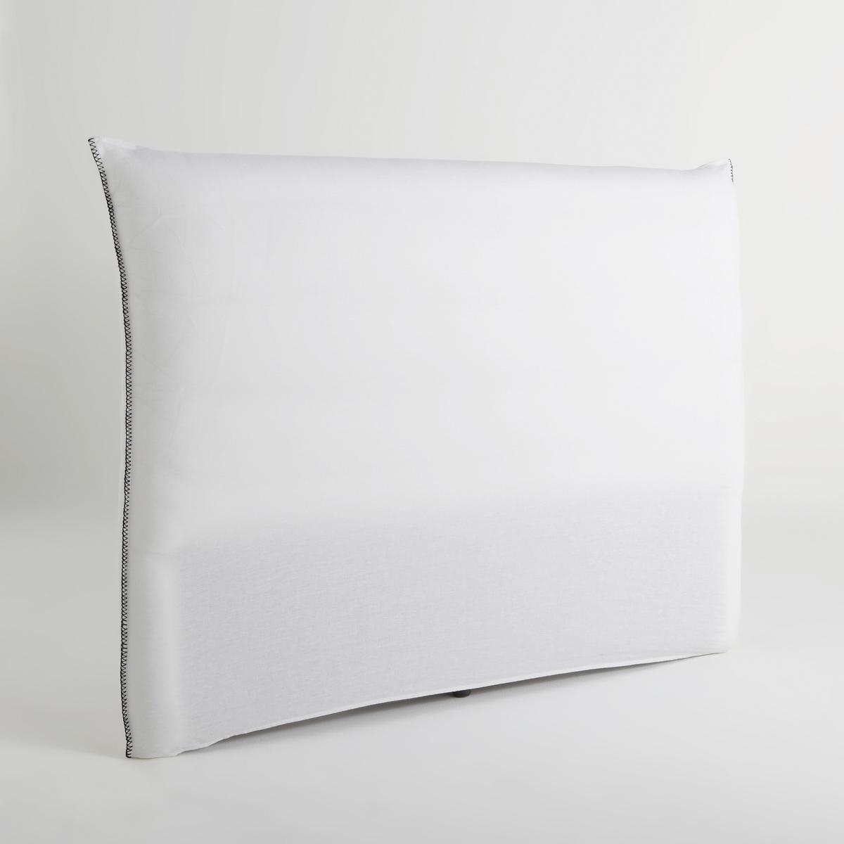 Чехол для изголовья кровати PamЧехол для изголовья кровати Pam. Разработан специально для изголовья кровати PAM. Материал : - 100% стираный лен : - Отделка контрастным петельным швом по бокам.Уход :- Машинная стирка при 40 °С.      Размеры : - Высота 130 смЗнак Oeko-Tex® гарантирует, что товары прошли проверку и были изготовлены без применения вредных для здоровья человека веществ.<br><br>Цвет: белый