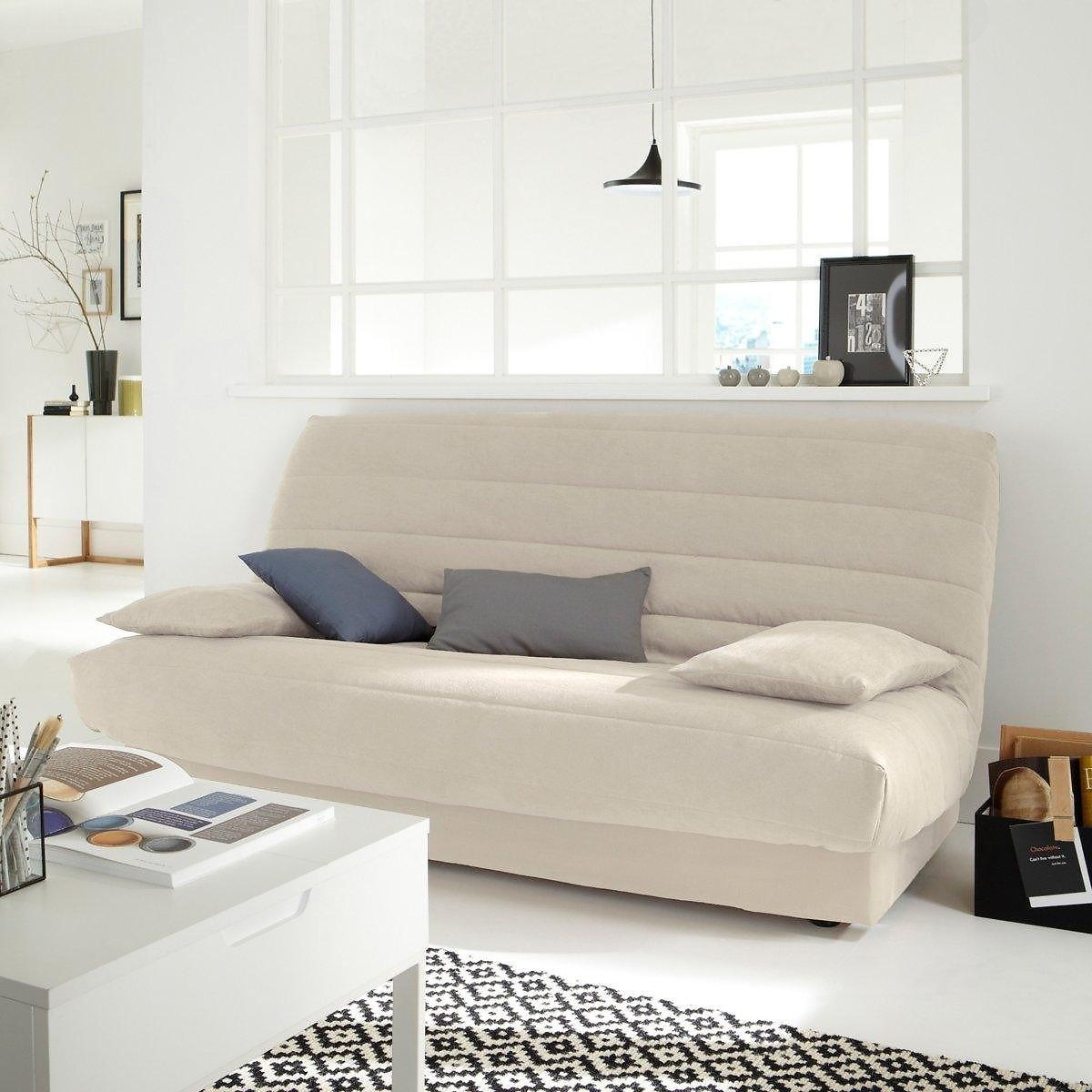 Чехол LaRedoute Для раскладного дивана из искусственной замши единый размер бежевый