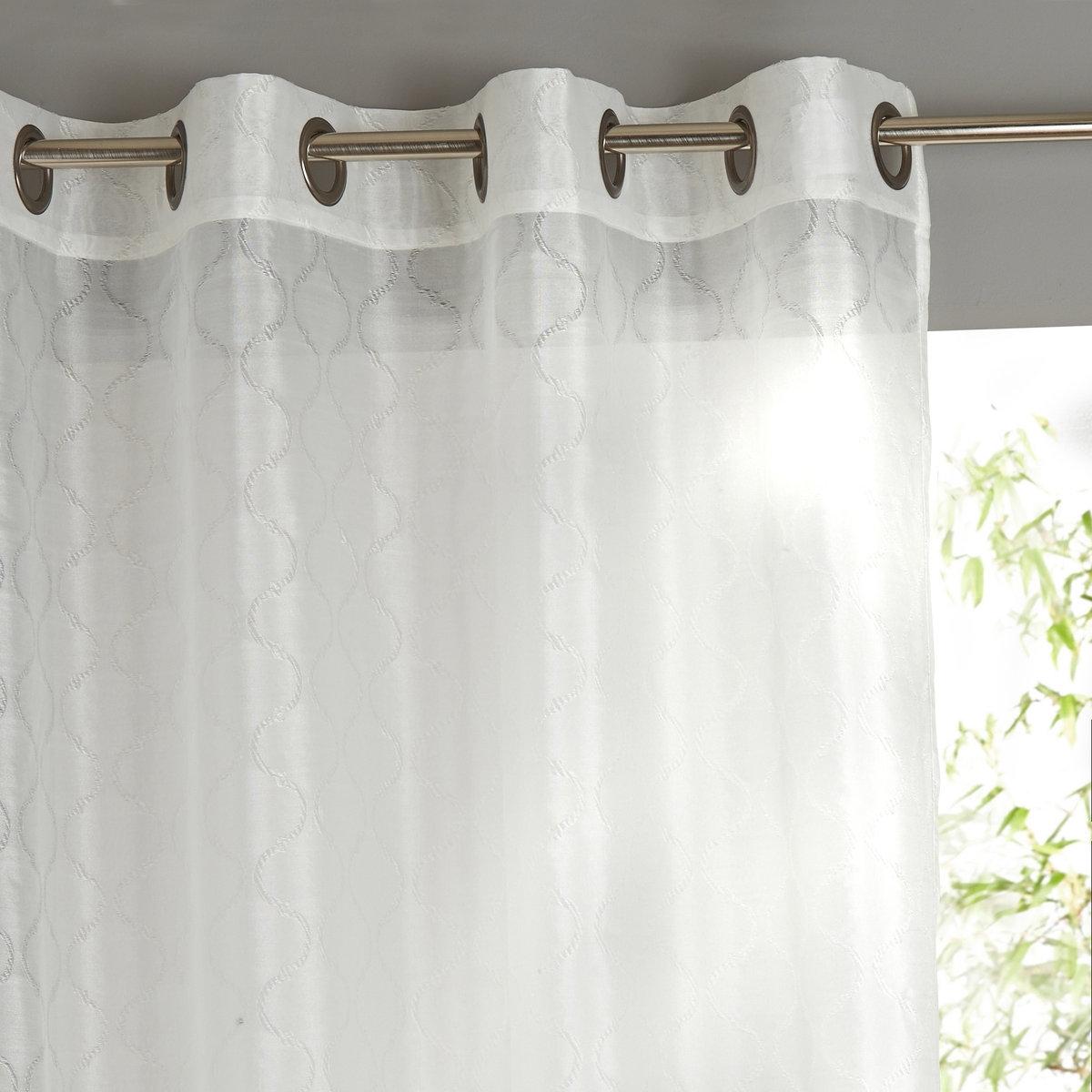 Занавеска из жаккардовой ткани с люверсами, ZIMBA от La Redoute