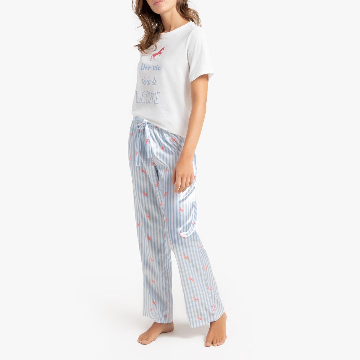 Пижама La Redoute С принтом короткая 34 (FR) - 40 (RUS) белый пижама la redoute с принтом короткая 34 36 fr 40 42 rus белый