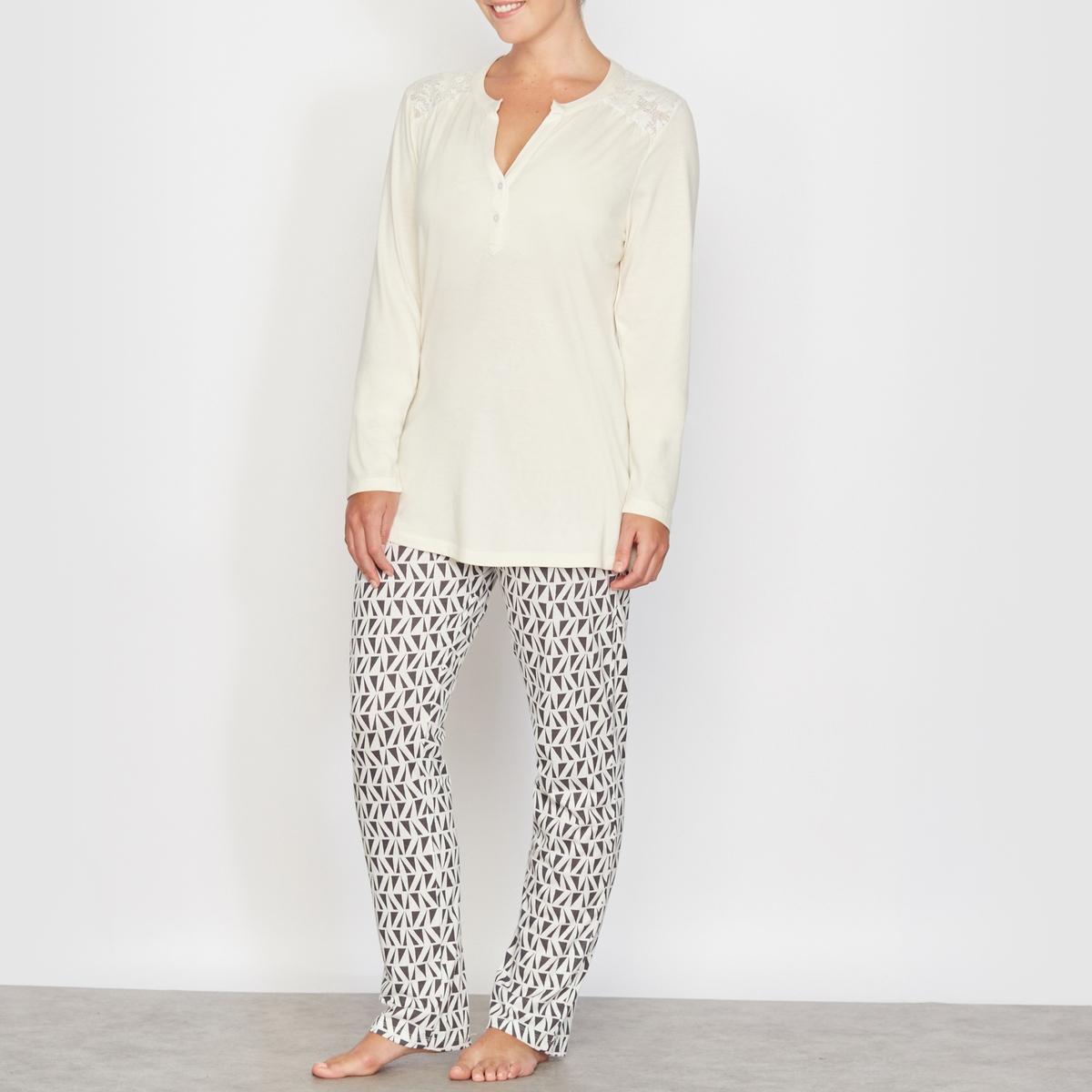 Пижама из хлопка и модала от La Redoute