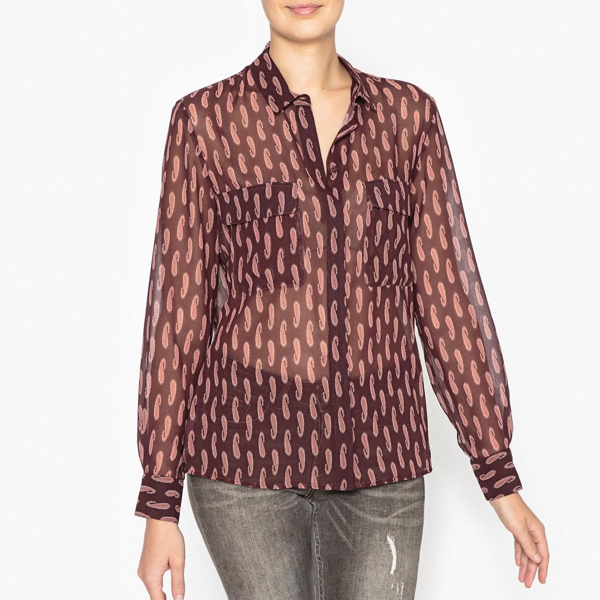 Рубашка из вуали с рисунком